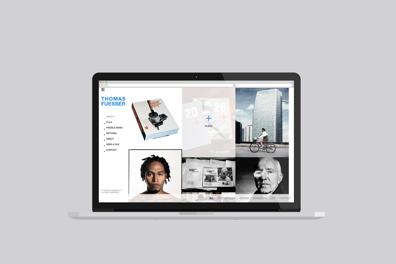 thomasfuesser gallery website design shanghai