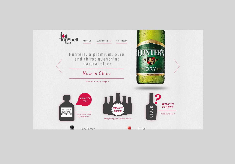 TopShelf Asia Beer Web Design
