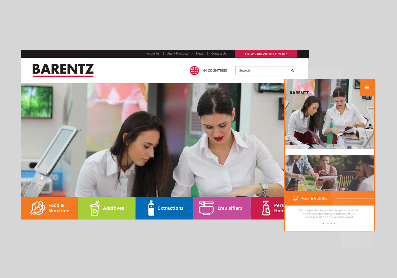 barentz-main-banner website design