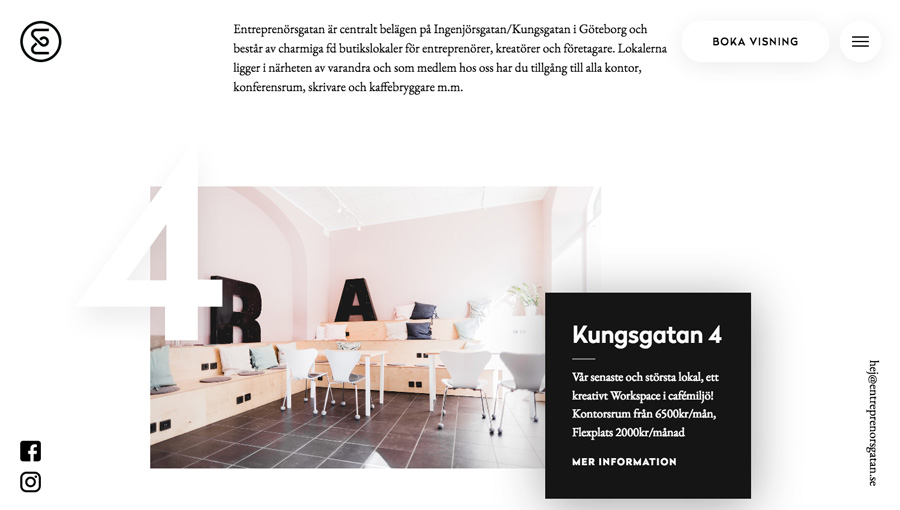 Minimalistic Co-working Space Website